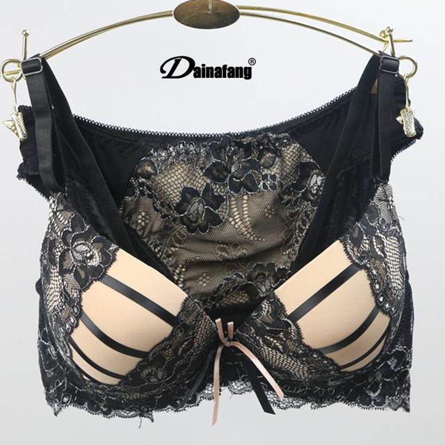 Womens Bralette Cute Sexy Underwear Bras Satin Lace Embroidery Splice Bra Brassiere Sets Free Shipping New Hot 10 Colors