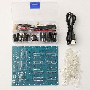 Image 2 - 8x8x8 LED קוביית 3D אור כיכר כחול LED אלקטרוני DIY ערכת מודול
