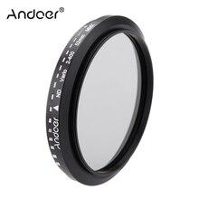 Andoer 52 مللي متر ND تصفية Fader محايد الكثافة قابل للتعديل ND2 إلى ND400 متغير تصفية لكانون نيكون DSLR كاميرا