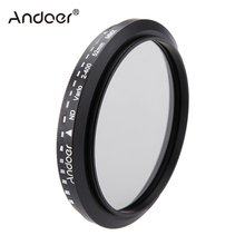 Andoer 52mm ND Filter Fader Neutral Density Adjustable ND2 to ND400 Variable Filter for Canon Nikon DSLR Camera