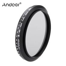 Andoer 52mm filtr ND Fader neutralnej gęstości regulowany ND2 do ND400 zmiennej filtr dla aparat Canon Nikon DSLR