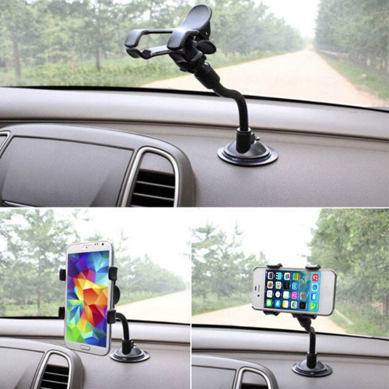 Universal windshield on-board telephone bracket sucker mobile phone can rotate 360 degree universal