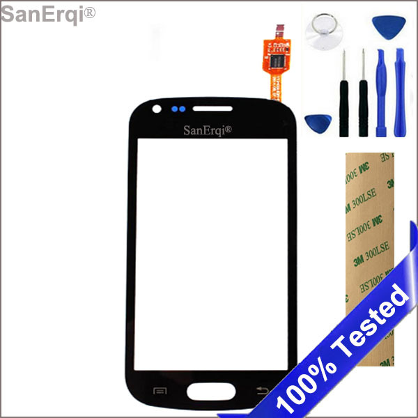 SanErqi Touch Screen Sensor Panel Digitizer For Samsung Galaxy Trend S7560 S Duos S7562 GT-S7562 7562 7560 LCD Display Lens