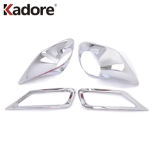 For Toyota RAV4 RAV 4 2013 2014 2015 ABS Chrome Front Rear Foglight Fog Light Lamp Cover Trim Frame Sticker Exterior Accessories