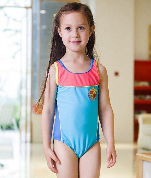 ФОТО new children's swimsuit girls skirt   pattern style swimsuit swimming supplies girls swimwear 5-12 years