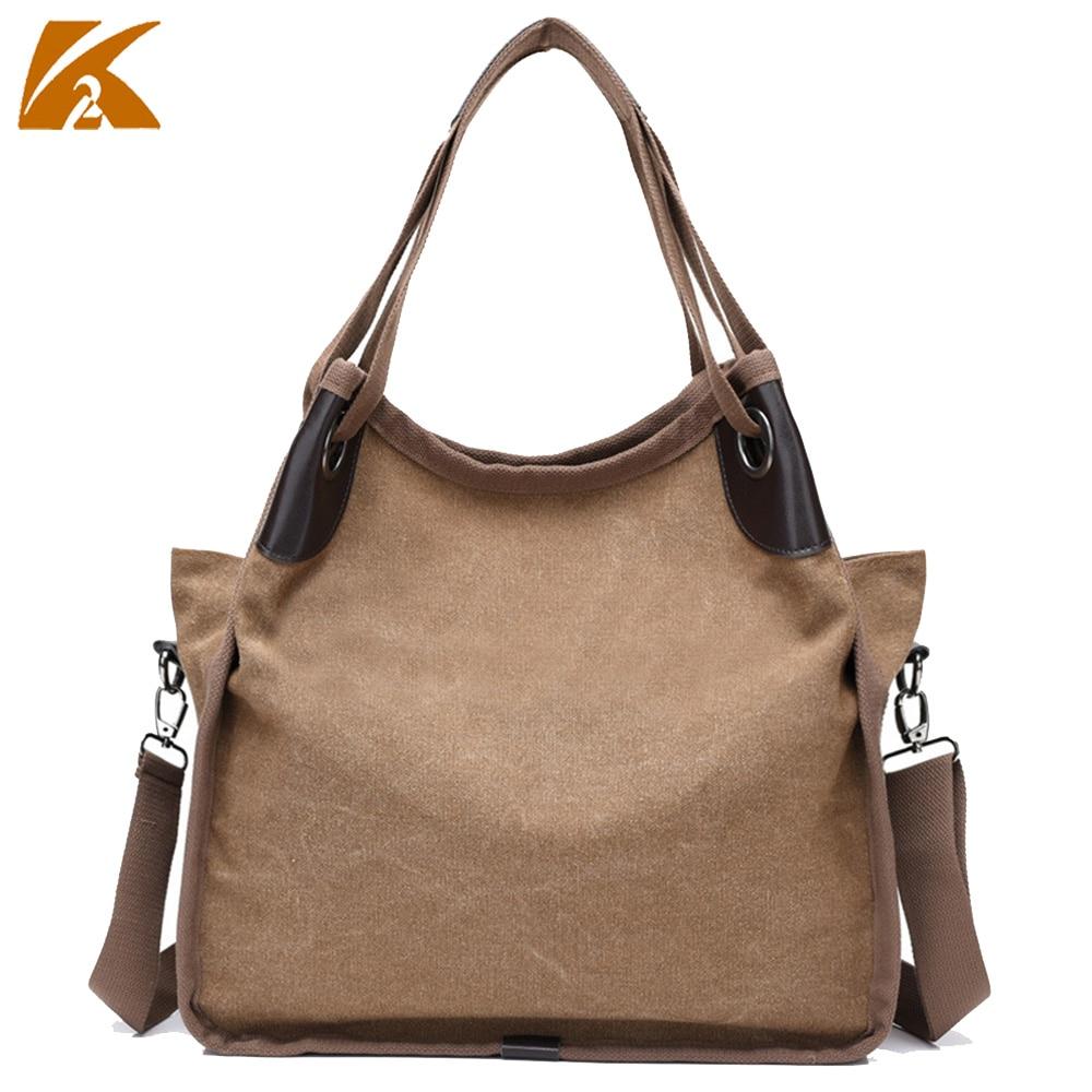 K-TWO women handbags casual canvas handbags women messenger bags crossbody  shopping bags large capacity 058e226e7c734