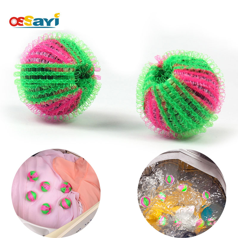 6Pcs Laundry Balls Magic Soft ECO Fabric Hair Remove Laundry Washing Balls For Washing Machine Clothes Cleaning Anti-winding
