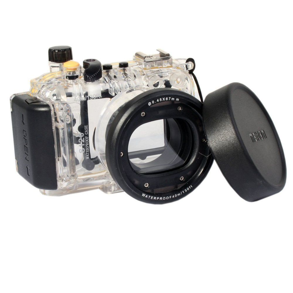Meikon 40m Underwater Diving Housing Waterproof Case for Canon S120 as WP-DC51
