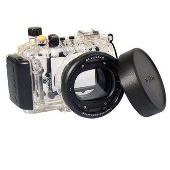 Meikon 40m Underwater Diving Housing Waterproof Case for Canon S120 as WP-DC51 meikon 40m waterproof underwater camera housing case bag for nikon d7000 camera