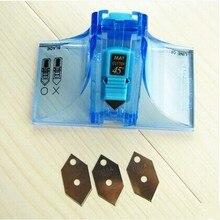 Lifemaster afa faca de 45 graus e 90 graus, faca de cortar tapete (2 cortadores + 3 lâminas reservas)