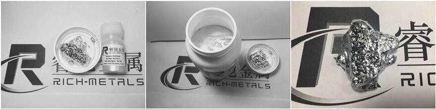 Gallio metallo, 99.99% puro, 500 grammi