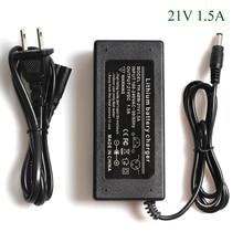 Chargeur de batterie au Lithium 21 V 1.5A série 5 chargeur de batterie 21 V 1.5A pour batterie au Lithium avec lumière LED + câble dalimentation ca