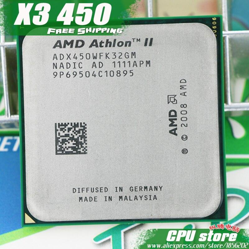 Процессор AMD Athlon II X3 450 Процессор процессором triple core (3.2 ГГц/L2 = 1.5 м/95 вт/2000 ГГц) socket AM3 AM2 + бесплатная доставка 938 контактный продавать X3 455