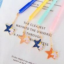 2 pcs/lot Unicorn Star Pendant gel pen for writing Cute 0.5 mm black ink Neutral Pens Stationery gift office school supplies