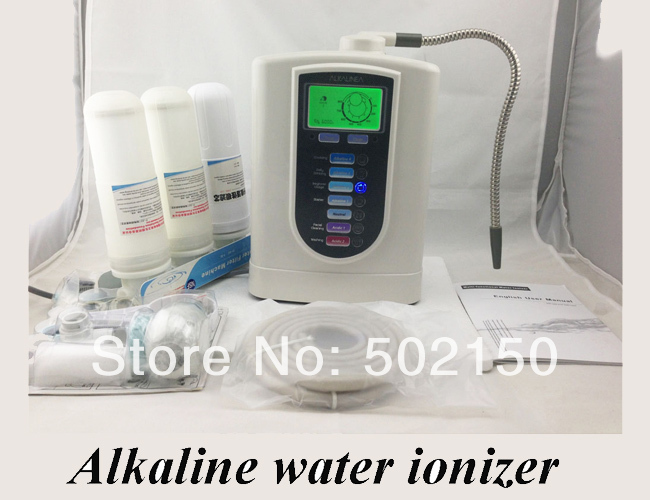 one alkaline water ionizer model WTH-803 and one nano water flask lime day