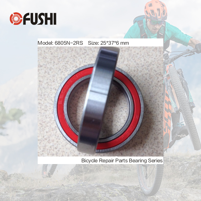 6805N-2RS Bearing 25*37*6 mm ( 1 PC ) ABEC-3 6805N RS Bicycle BB51 BB86 Bracket Bottom 25 37 6 Balls Bearings 2018 hot sale time limited steel rolamentos 6821 2rs abec 1 105x130x13mm metric thin section bearings 61821 rs 6821rs