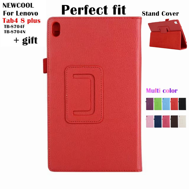 Case For Lenovo Tab 4 8 plus TB-8704x Litchi Leather Case for Lenovo TAB4 8 plus TB-8704F TB-8704N 8.0 tablet Case Flip Cover for lenovo tab 4 8 plus tb 8704x soft silicone back cover for tab4 plus tb 8704f tb 8704n 8 tablet stand case