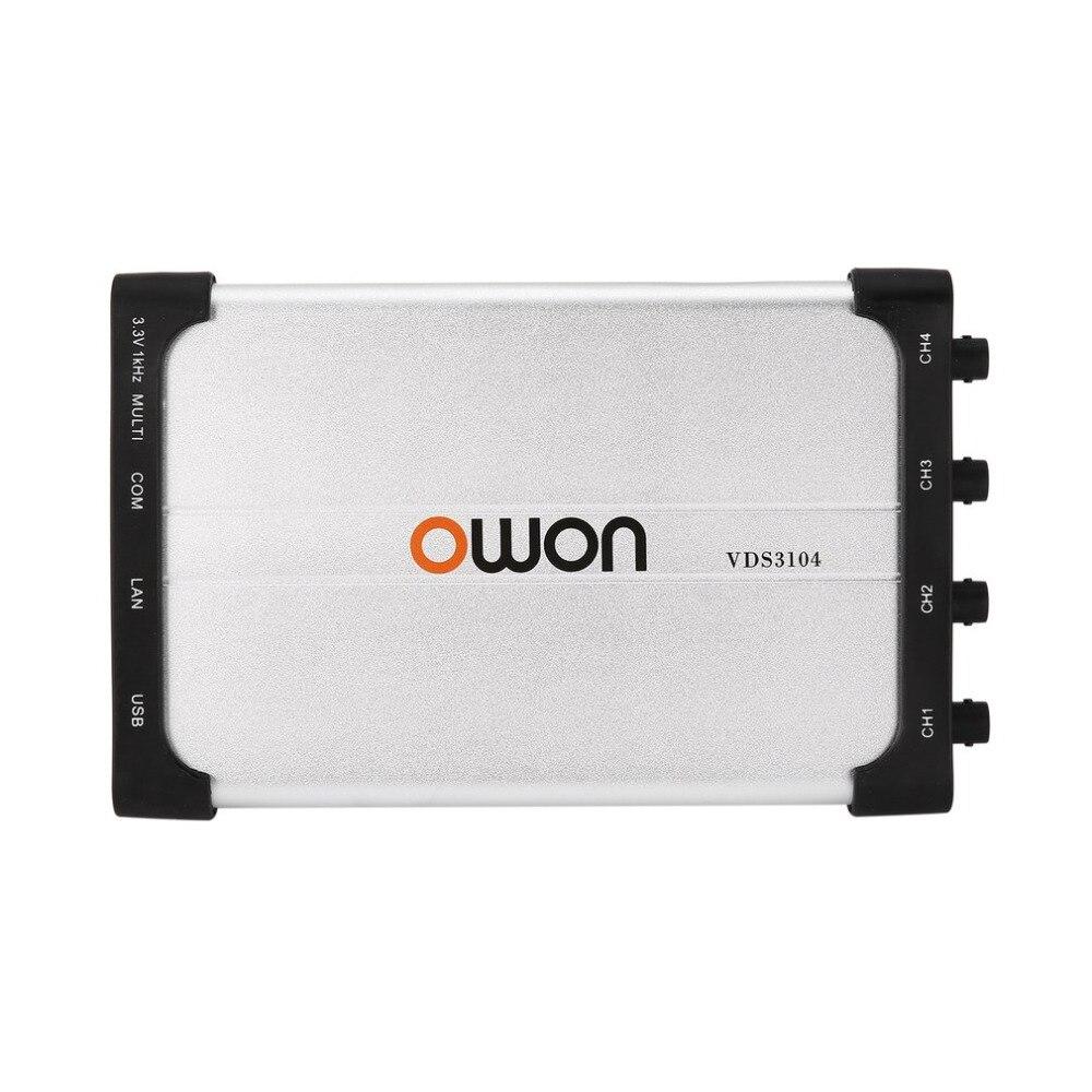 Numérique oscilloscope USB oscillographe kit kits électroniques BRICOLAGE 100 mhz Multimètre Spectre VDS3104L 10 m Longueur D'enregistrement Forme D'onde