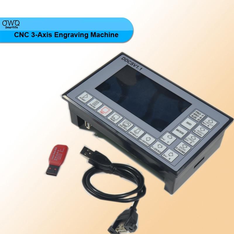 1pc ddcsv1.1 500khz cnc 3-axis engraving machine controller motion control system g code stepper mot