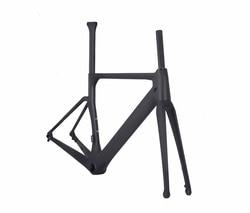 Cud popularne węgla rama rower szosowy  160mm płyta rama roweru węgla  142*12mm z tyłu spacer AERO rowerowe Disc rama z włókna węglowego
