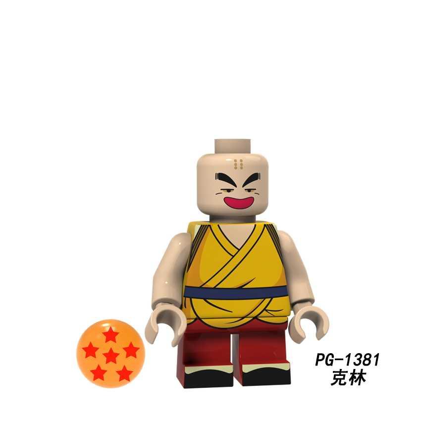 Jedna sprzedaż Dragon Ball Z Klin Lan Qi Sun Wukong słońce Wufan Wu Qindou figurki klocki zabawki prezentowe dzieci PG8167