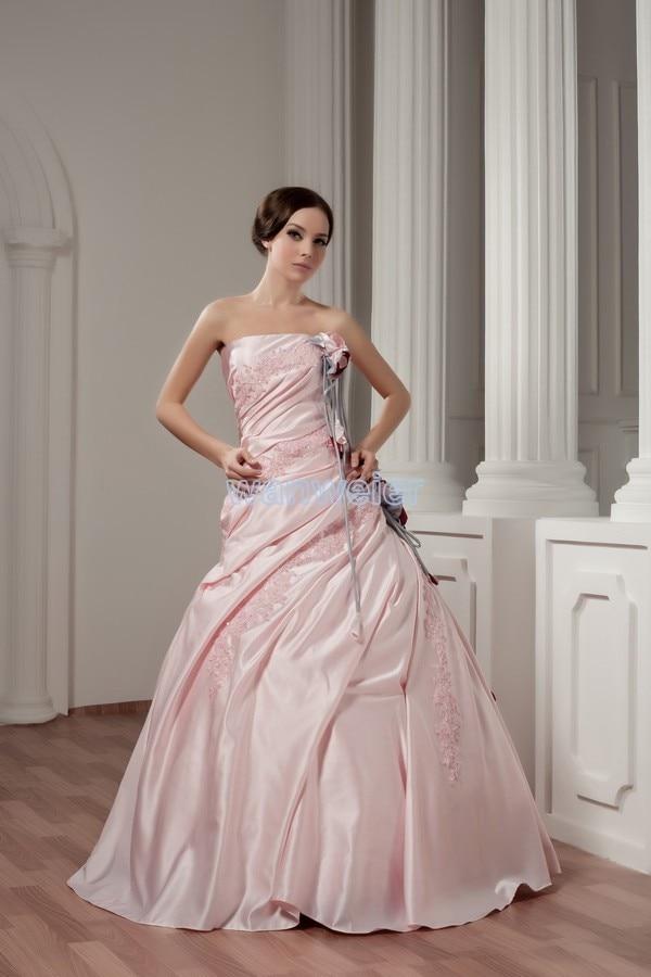 Fuchsia pink wedding dress