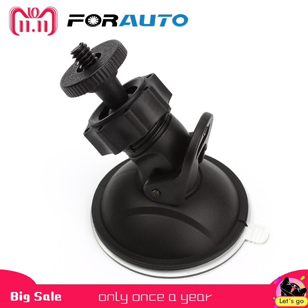 FORAUTO Car DVR Holder DV GPS Camera Stand Holder Mini Suction Cup Mount Tripod Holder Car Mount Holder Mobile h 548 bike motorcycle mount stand w 3m sticker for camera gps dv player black