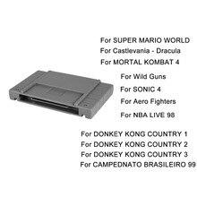 11 Jogos 16bit Cartucho de Super Jogo Flash Drive Flash de Vídeo TV jogos de Jogos de Console Game Card Plug & Play Para Nintendo SFC/SNES