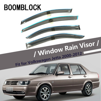 High Quality 4pcs Smoke Window Rain Visor For Volkswagen VW Jetta 2011-2000 Styling ABS Vent Sun Deflectors Guard Accessories