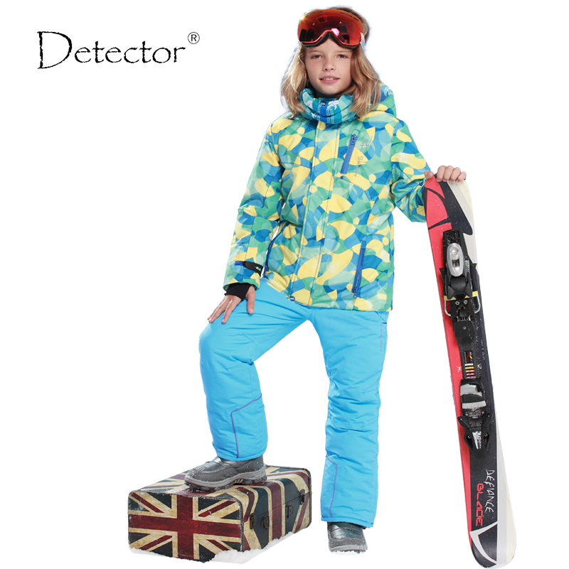 Detector 30 Degree Children Outerwear Warm Coat Sporty font b Ski b font Suit Kids Clothes