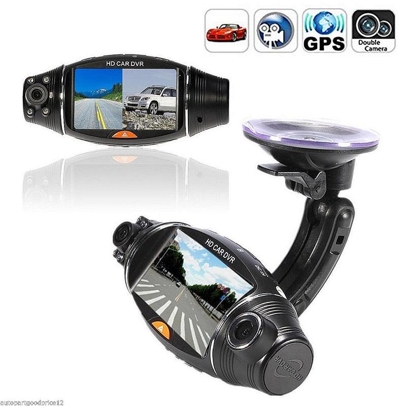 R310 FHD Dual Lens 2.7 LCD Display HD 720P Portable Car Camera DVR Video Recorder With G-Sensor Car DVR