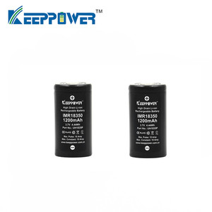 Image 2 - 2 pièces KeepPower 10A décharge IMR18350 IMR 18350 1200mAh UH1835P Li ion batterie rechargeable livraison directe batteries dorigine