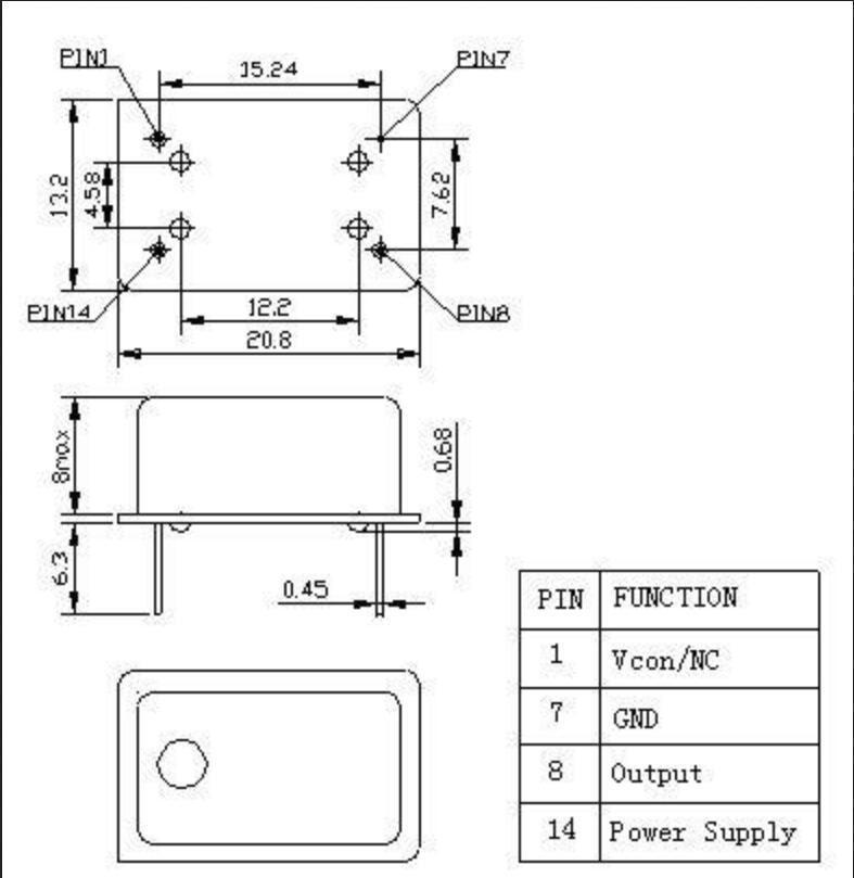 1PCS mini TCXO 0.1PPM 24.576MHz 24.576M Ultra precision Oscillator