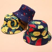 Женская шляпа в рыбацком стиле с тропическим принтом и фруктовым узором, женская летняя спортивная шляпа от солнца на открытом воздухе, повседневная Кепка для бассейна, Панамы от солнца