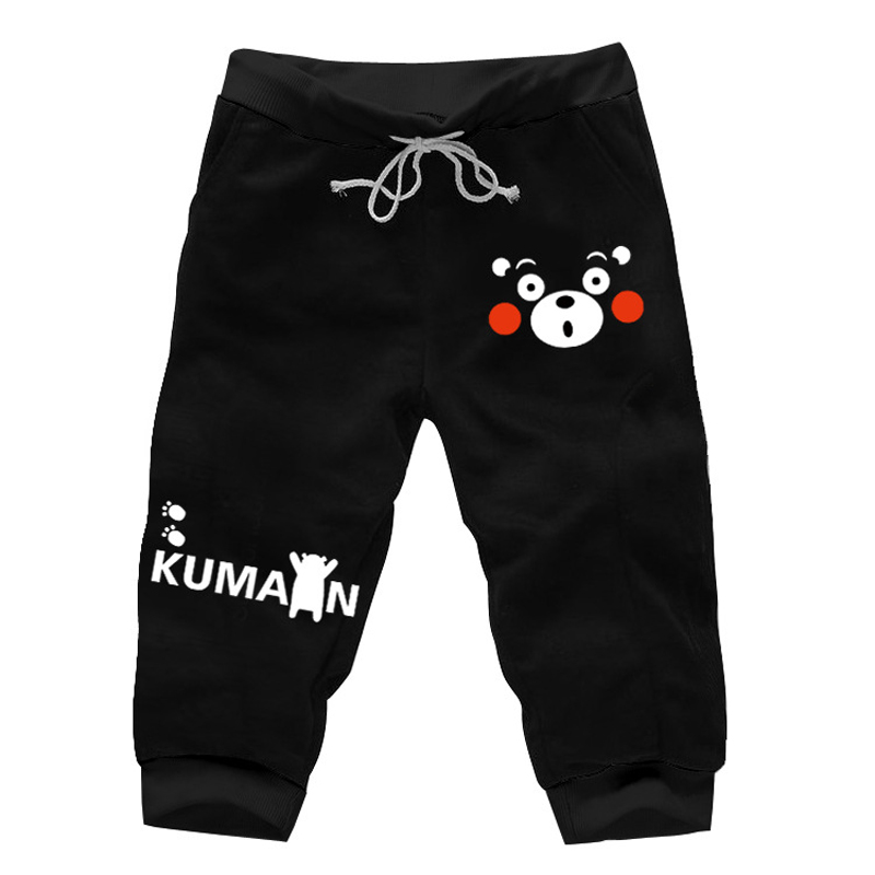 8Colors Fashion Cute Kumamon Shorts Cosplay Costume Lovely Cartoon Bear Printed Short Trousers Daily Casual Pants