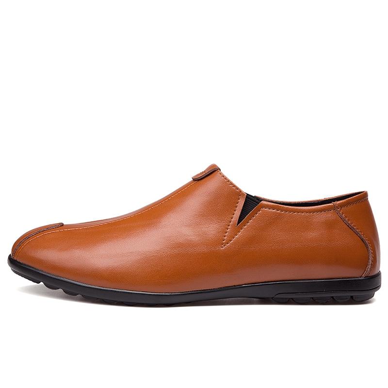 NINYOO ainulaadne disain Meeste vabaajajalatsid Ehtne nahast kingad - Meeste jalatsid - Foto 2