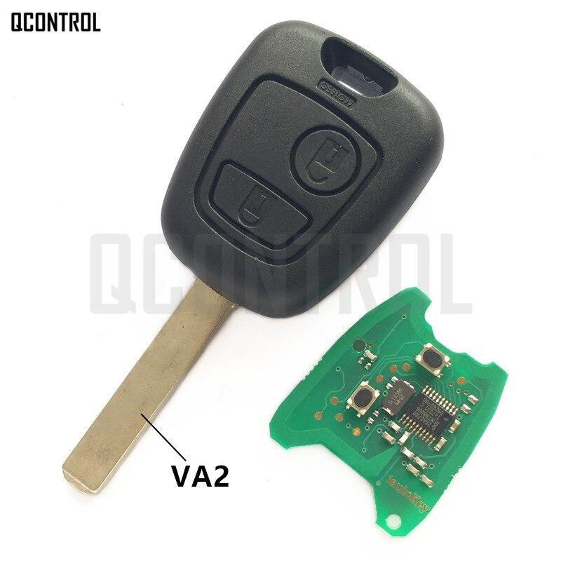 QCONTROL Voiture À Distance Clé DIY pour CITROEN C2/C3 Pluriel, 2003-2006, 2 Boutons Touche Plein