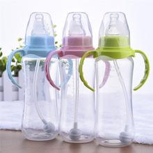 240 мл симпатичная Детская Бутылочка для новорожденных обучающая