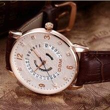 Montre Homme nuevo lujo DOM Mens relojes de cuero suaves estupendos reloj hombres fecha de calendario 50 m cuarzo resistente al agua relojes para hombre