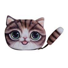Small Tail Cat Coin Purse Cute Kids Cartoon Wallet Bag Pouch Children Holder Women Wallet monederos para mujer monedas 2019 стоимость