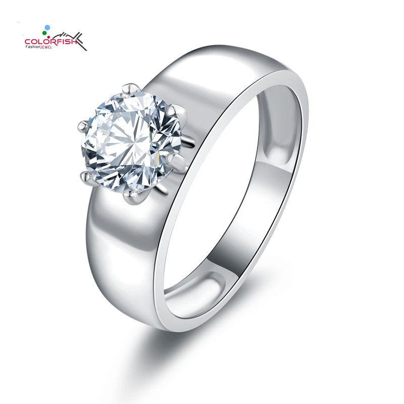 solitaire round wedding reverie shank earth engagement white ring brilliant gold split rings