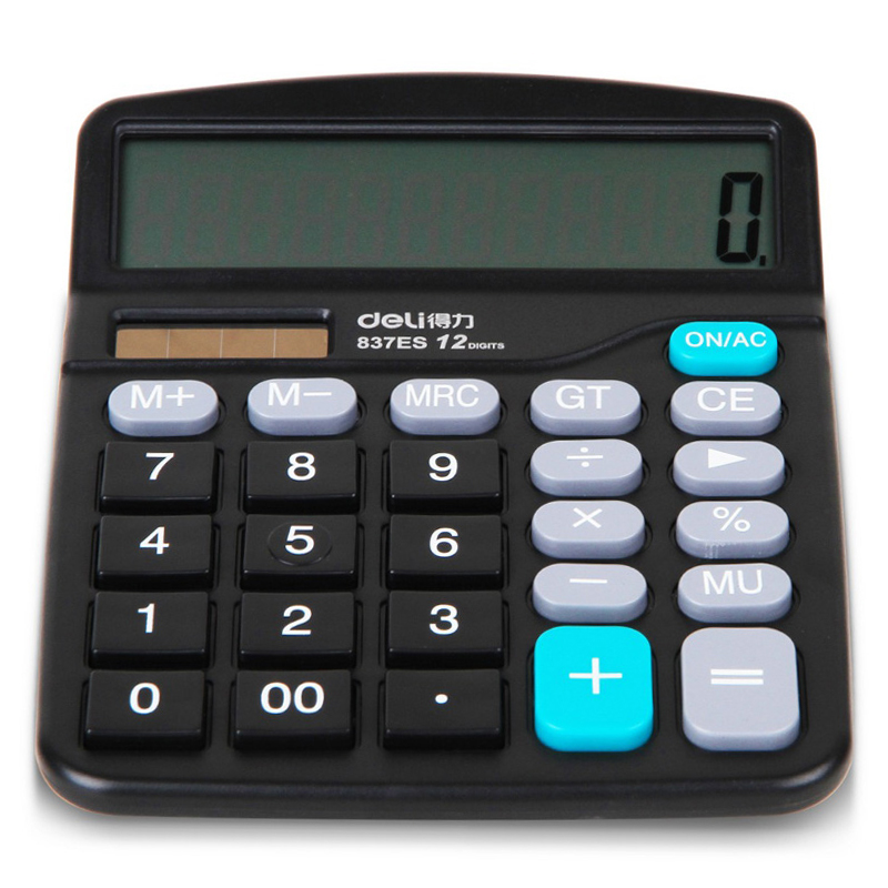 Brand New Genuine Deli Desktop Dual Power General Purpose  Calculator For Office Working, Shipping No Battery
