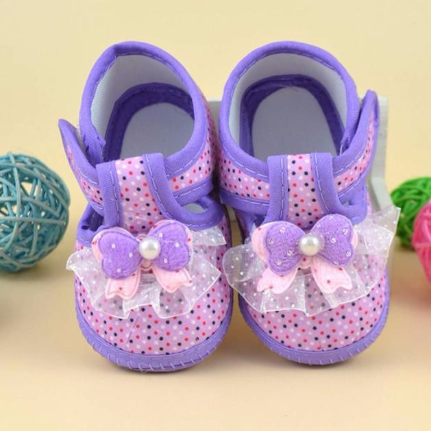 High Quality Anti-slip Design Newborn Infant Baby Girls Bowknot Boots Soft Crib Shoes For 1-18 Months Kids