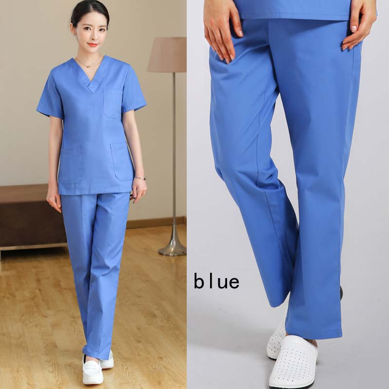 Women Men Scrub Pants Pure Cotton/Polyester Cotton Fashion Medical Uniforms Scrub Bottoms With Elastic + A Drawstring US SIZE