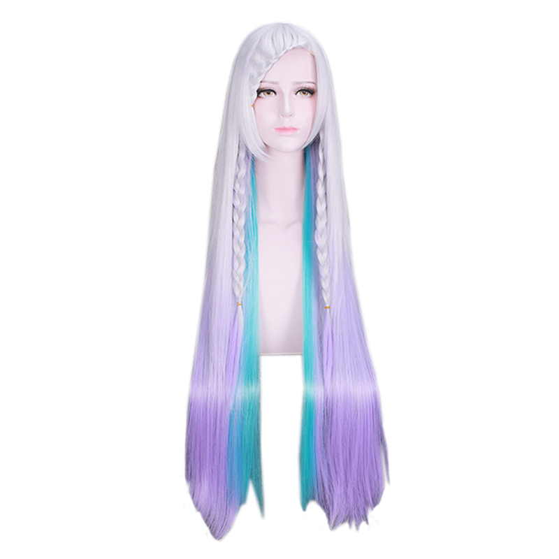 Anime Sword Art Online Yuna Long Straight Wig Cosplay Costume Women Synthetic Hair Halloween Party Wigs