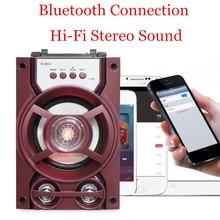 цена на Portable Bluetooth Speaker Stereo Wireless Super Bass Loudspeakers Jack Desktop FM TF USB Music Player Soundbar caixa de som
