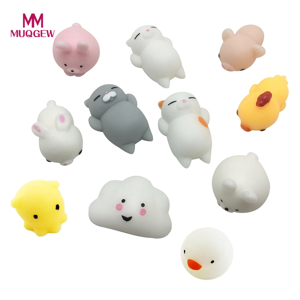 11pcs/set Cute Mochi Squishy Cat Squeeze Slow Rising Adult Healing Fun Kawaii Toys Stres ...