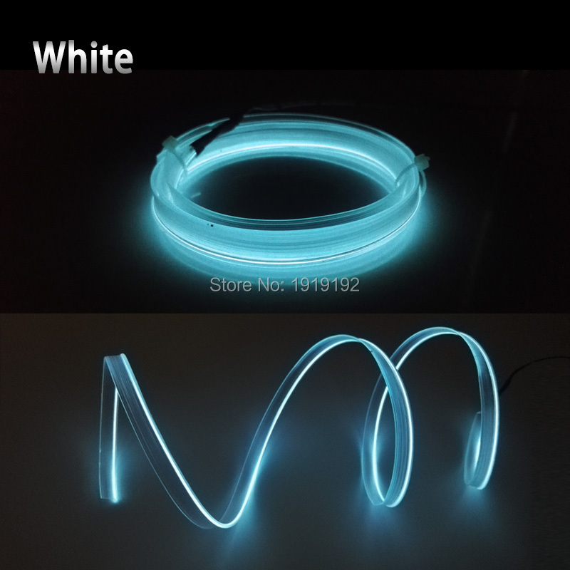 2017 2.3mm skirt 1Meter 10 Colors Select Flexible EL Wire Neon Light ...