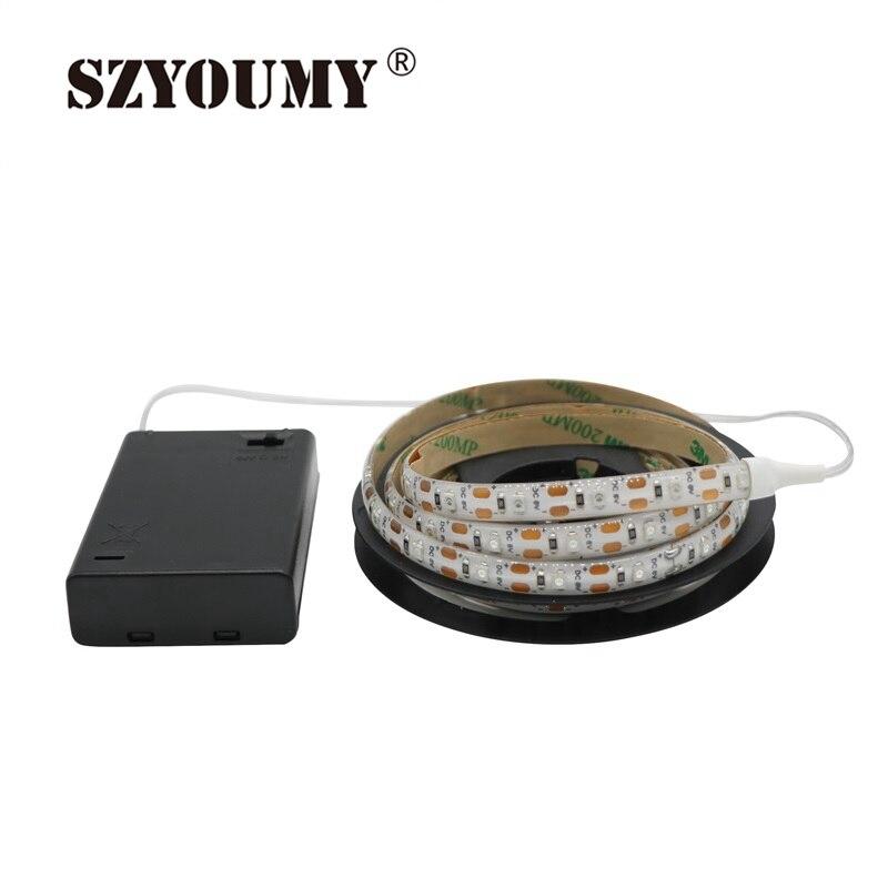 SZYOUMY 10PCS Tira de LED con batería 3528 SMD Cinta LED impermeable - Iluminación LED