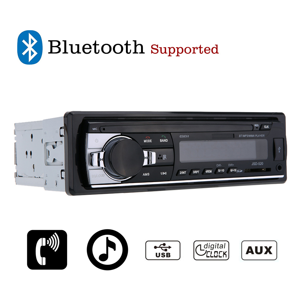 2017 Car Radio Stereo Player Bluetooth AUX-IN MP3 FM/USB/1 Din/remote control For Iphone 12V CarAudio Auto Support Smartphone latest car radio bluetooth stereo player audio dvd mp3 player fm usb radio 1 din remote control 12v auto radios